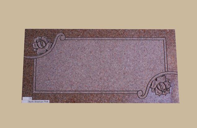 0272H gravestone flat marker