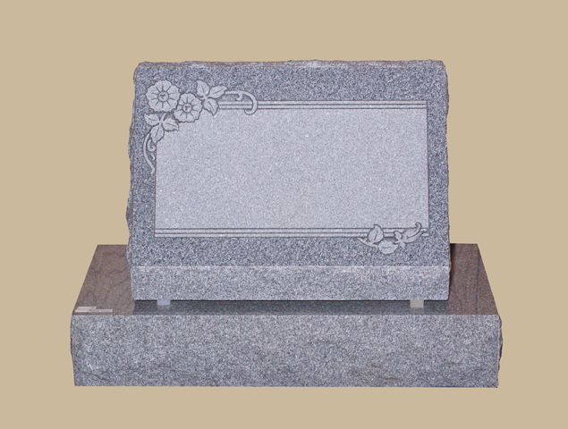 0277H Slanted Cemetery Gravestone