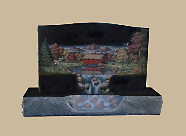 0016D Custom Cemetery Gravestone