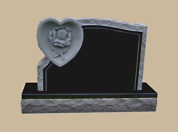 0019D upright grave marker