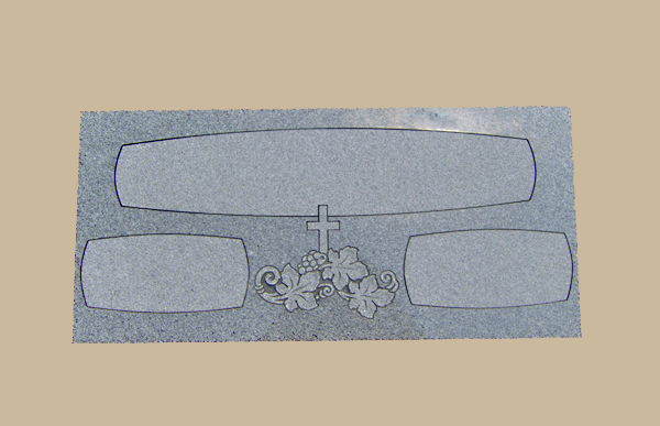 0020D Religious Gravestone Flat Marker