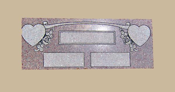 0033D Flat Marker for Gravesite