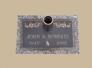 0037 Bronze Gravesite Marker