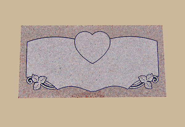 0040D Gravestone Flat Marker