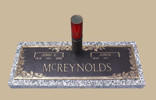 0044 Bronze Cemetery Gravestone