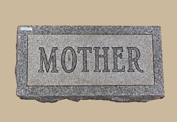 0086D Flat Marker for Gravesite