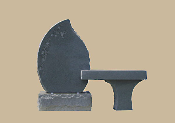 0093D cemetery gravesite bench