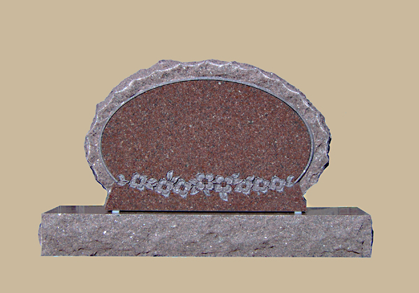 0099D upright grave marker