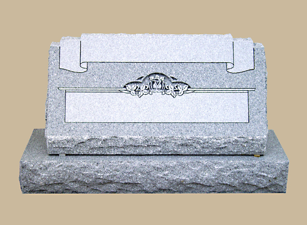 0105D Slanted Granite Marker