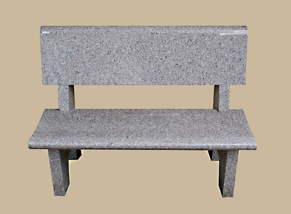 0114D Gravesite Bench With Backrest