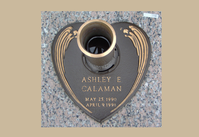 0118 bronze gravesite marker