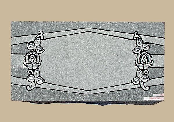 0119D Floral Flat Marker