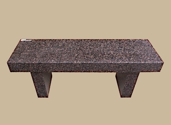 0123D granite memorial bench