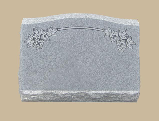 0129D Slanted Cemetery Gravestone
