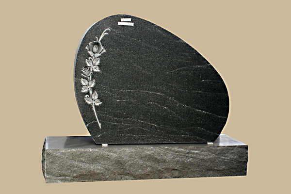 0137D Oval Grave Marker