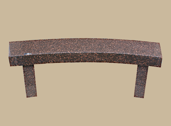 0144D Memorial Bench With Curved Seat