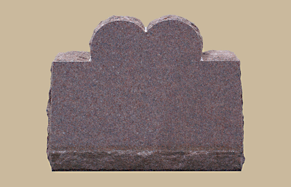 0185D slanted upright grave marker
