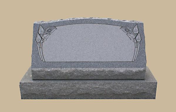 0186D slanted grave marker
