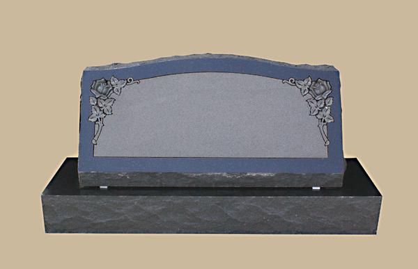 0192D slanted grave marker
