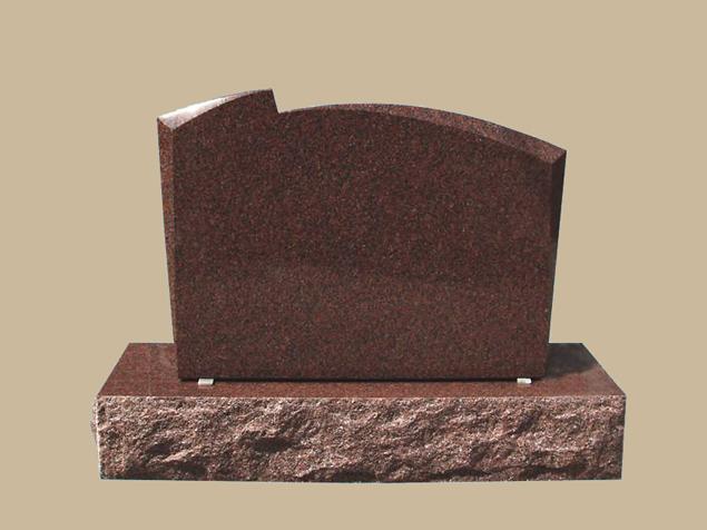 0195D slanted cemetery gravestone