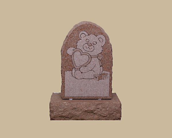 0198R kid's cemetery gravestone