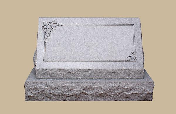 0199R Slanted Grave Marker