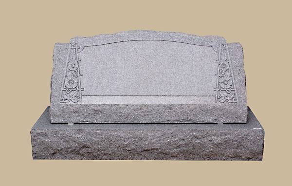 0200R Upright Slanted Grave Marker