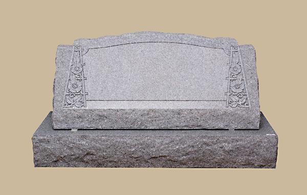 0200R Upright Slanted Grave Marker
