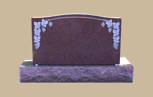 0204D Upright Grave Marker