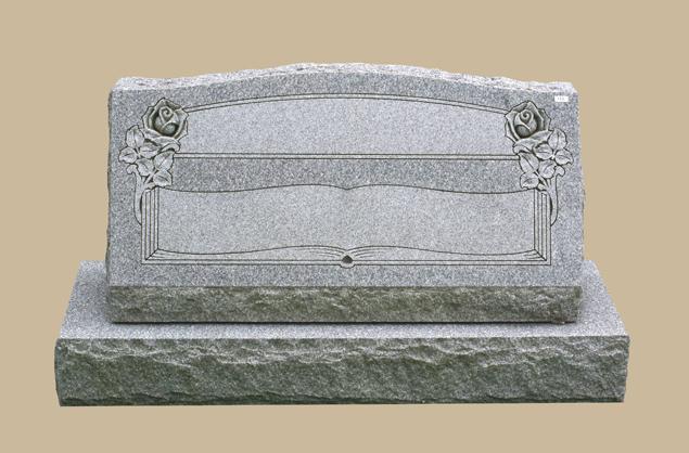 0213C slant upright grave marker