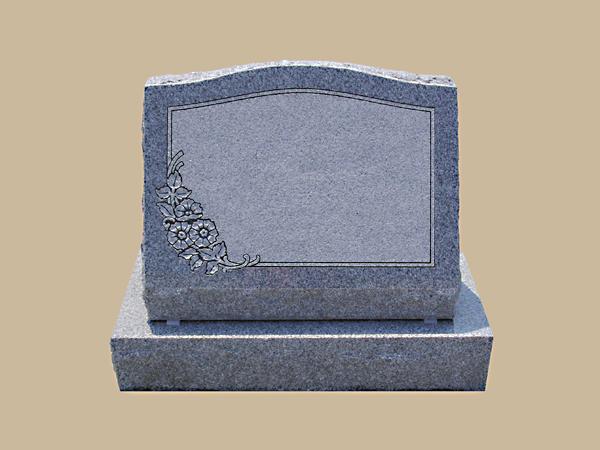 0217D Slanted Grave Marker