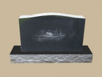 0222C Custom Upright Grave Marker
