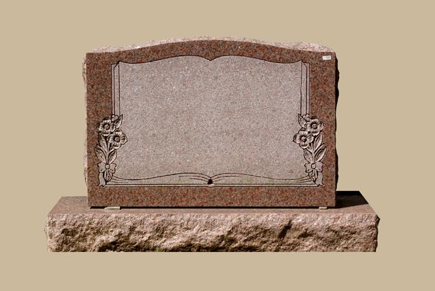 0231C Slanted Cemetery Gravestone