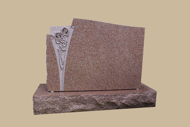 0236C upright grave marker