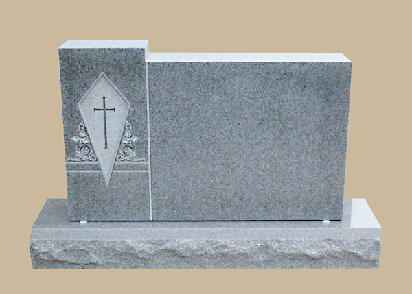 0239D Religious Cemetery Gravestone