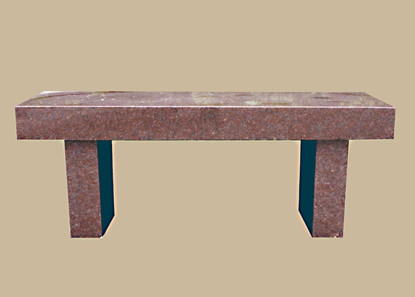 0240D Granite Memorial Bench