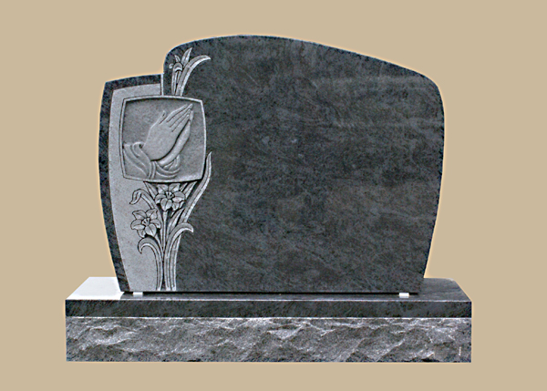 0243D Praying Hands Grave Stone