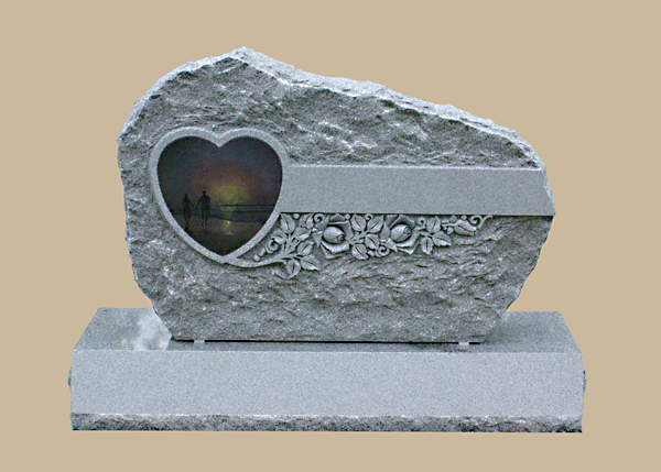 0245D Custom Cemetery Gravestone