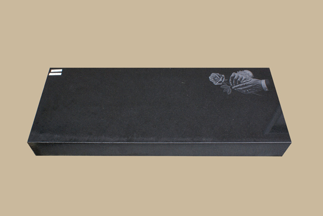 0254C custom flat grave marker