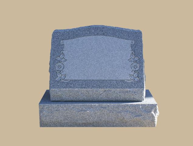 0254D slanted grave marker