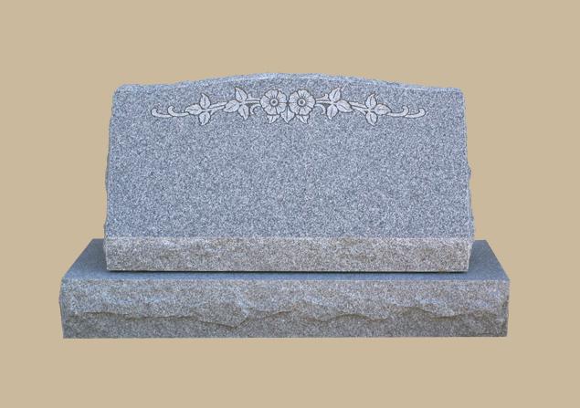 0256D Floral Grave Marker