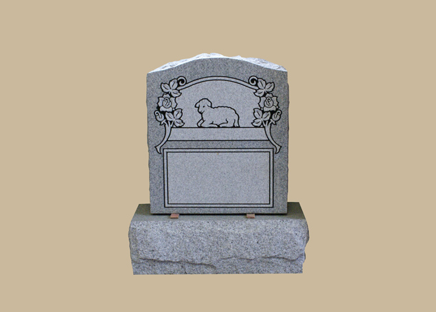 0259C kid's cemetery gravestone