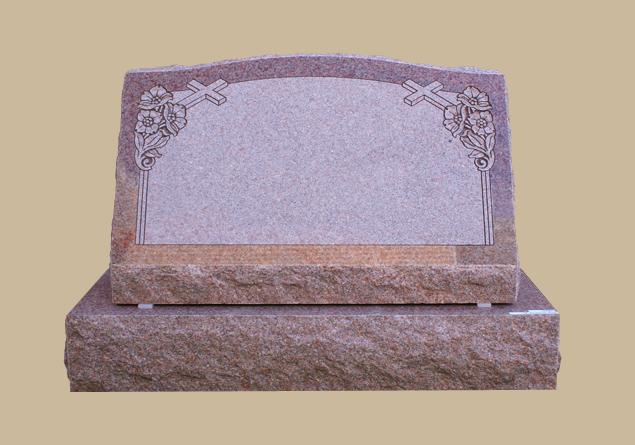 0279C Religious Slanted Grave Stone