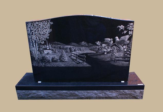 0283C custom cemetery gravestone