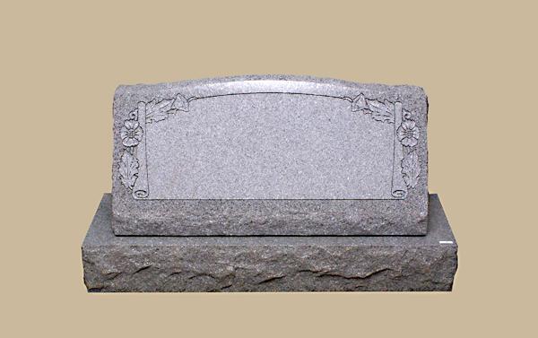0302R slanted grave marker