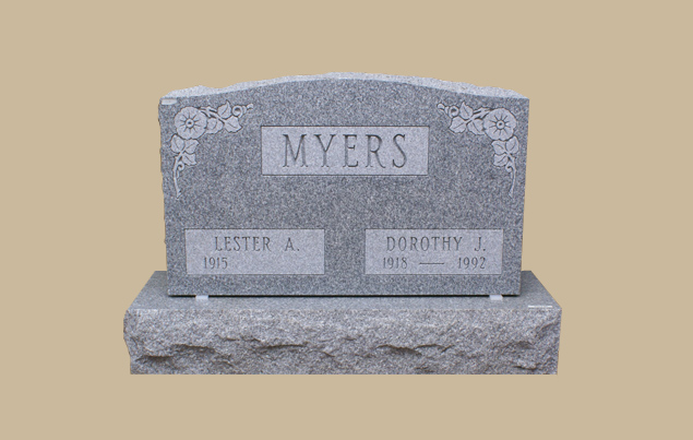 0307R Upright Grave Marker