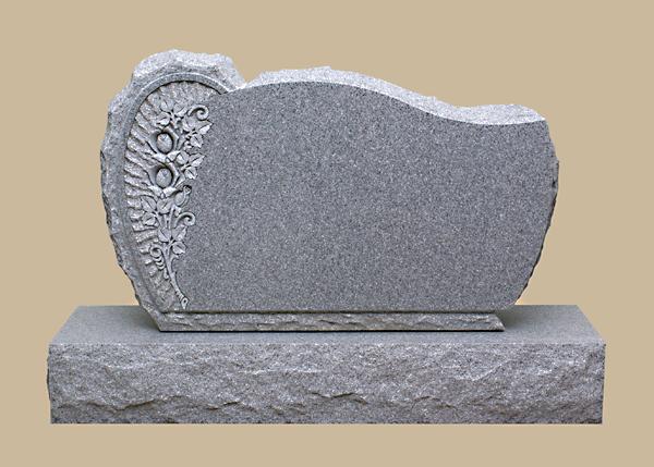 0314R Upright Grave Marker