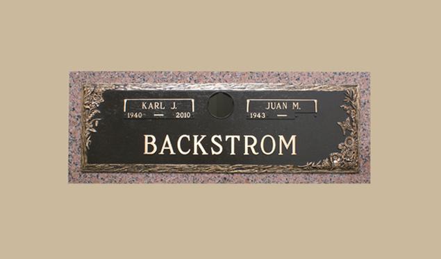 0315 Bronze Gravesite Marker