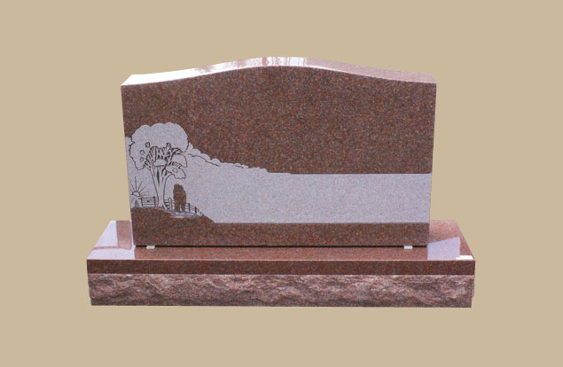 0003D Upright Grave Marker