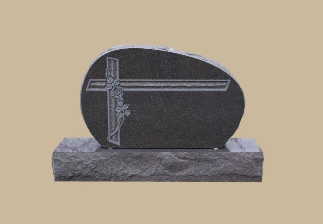 0265D Religious Cemetery Gravestone